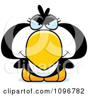 Clipart Mean Penguin Chick Royalty Free Vector Illustration