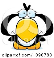 Clipart Cute Penguin Chick Royalty Free Vector Illustration by Cory Thoman