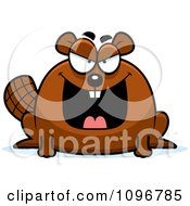 Clipart Mean Chubby Beaver Royalty Free Vector Illustration by Cory Thoman