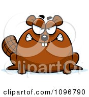 Clipart Mad Chubby Beaver Royalty Free Vector Illustration by Cory Thoman