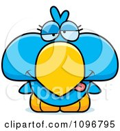 Clipart Sick Blue Bird Chick Royalty Free Vector Illustration by Cory Thoman