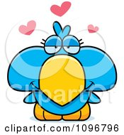 Clipart Blue Bird Chick In Love Royalty Free Vector Illustration by Cory Thoman