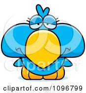 Clipart Sad Blue Bird Chick Royalty Free Vector Illustration by Cory Thoman