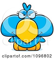 Clipart Mean Blue Bird Chick Royalty Free Vector Illustration by Cory Thoman