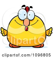 Clipart Happy Chubby Rooster Chick Royalty Free Vector Illustration