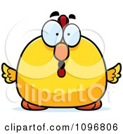 Clipart Surprised Chubby Rooster Chick Royalty Free Vector Illustration by Cory Thoman