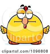 Clipart Bored Chubby Rooster Chick Royalty Free Vector Illustration by Cory Thoman