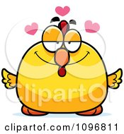 Clipart Chubby Rooster Chick In Love Royalty Free Vector Illustration by Cory Thoman