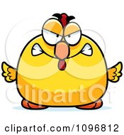 Clipart Mad Chubby Rooster Chick Royalty Free Vector Illustration by Cory Thoman