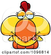 Clipart Goofy Yellow Rooster Chick Royalty Free Vector Illustration by Cory Thoman