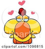 Clipart Yellow Rooster Chick In Love Royalty Free Vector Illustration by Cory Thoman
