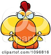 Clipart Mad Yellow Rooster Chick Royalty Free Vector Illustration by Cory Thoman