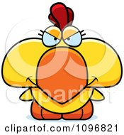 Clipart Mean Yellow Rooster Chick Royalty Free Vector Illustration by Cory Thoman