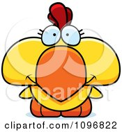 Clipart Happy Cute Yellow Rooster Chick Royalty Free Vector Illustration by Cory Thoman