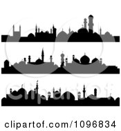 Clipart Black And White Mosque Banners Royalty Free Vector Illustration