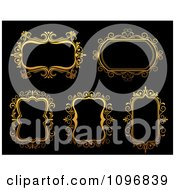 Clipart Ornate Golden Frames 3 Royalty Free Vector Illustration