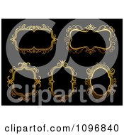 Clipart Ornate Golden Frames 4 Royalty Free Vector Illustration
