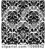 Clipart Black And White Triangular Damask Pattern Seamless Background 19 Royalty Free Vector Illustration