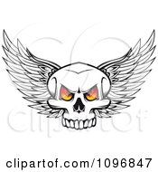 Winged Skull With Fiery Eyes