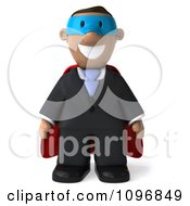 Clipart 3d Black Business Man Super Hero Royalty Free CGI Illustration