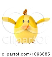 Clipart 3d Chubby Yellow Bird Chicken Flying Royalty Free CGI Illustration