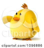 3d Chubby Yellow Bird Chicken Presenting 2