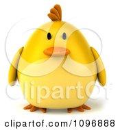 3d Chubby Yellow Bird Chicken