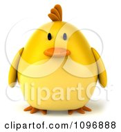 Clipart 3d Chubby Yellow Bird Chicken Royalty Free CGI Illustration