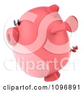 Clipart 3d Chubby Pig Jumping 2 Royalty Free CGI Illustration by Julos
