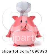 Clipart 3d Chubby Pig Chef Facing Front Royalty Free CGI Illustration by Julos