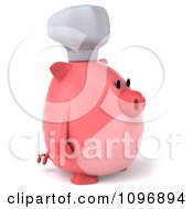 Clipart 3d Chubby Pig Chef Facing Right Royalty Free CGI Illustration by Julos
