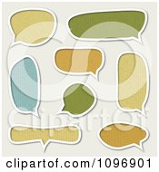 Clipart Patterned And White Outlined Speech Bubbles On Off White Royalty Free Vector Illustration