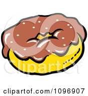 Clipart Donut With Chocolate Frosting Royalty Free Vector Illustration by Johnny Sajem