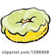 Clipart Donut With Green Frosting Royalty Free Vector Illustration by Johnny Sajem