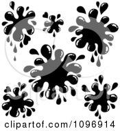 Background Of Black Paint Splatters