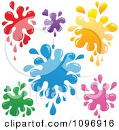 Clipart Colorful Paint Splatters Royalty Free Vector Illustration