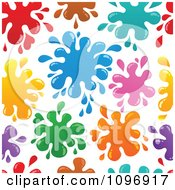 Clipart Seamless Background Of Colorful Paint Splatters Royalty Free Vector Illustration