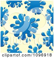 Clipart Seamless Background Of Blue Paint Splatters Over Sepia Royalty Free Vector Illustration