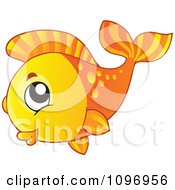Clipart Happy Orange Fish Royalty Free Vector Illustration