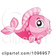 Clipart Happy Pink Fish Royalty Free Vector Illustration