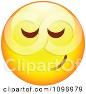 Clipart Yellow Cartoon Smiley Emoticon Happy Face 21 Royalty Free Vector Illustration