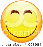 Clipart Yellow Cartoon Smiley Emoticon Happy Face 19 Royalty Free Vector Illustration