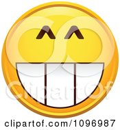 Clipart Grinning Yellow Cartoon Smiley Emoticon Face Royalty Free Vector Illustration