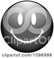 Clipart Black Cartoon Smiley Emoticon Face Royalty Free Vector Illustration