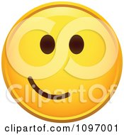 Clipart Yellow Cartoon Smiley Emoticon Happy Face 25 Royalty Free Vector Illustration
