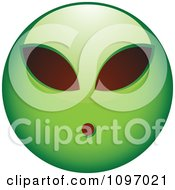 Clipart Green Alien Cartoon Smiley Emoticon Face Royalty Free Vector Illustration