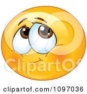 Clipart Blushing Shy Emoticon Royalty Free Vector Illustration by yayayoyo #COLLC1097036-0157