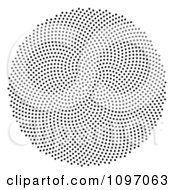 Black Fibonacci Golden Ratio Mathematics Dot Patter