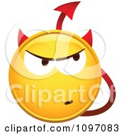 Clipart Yellow Devil Cartoon Smiley Emoticon Face Royalty Free Vector Illustration