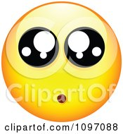 Clipart Amazed Yellow Emoticon Smiley Face Royalty Free Vector Illustration